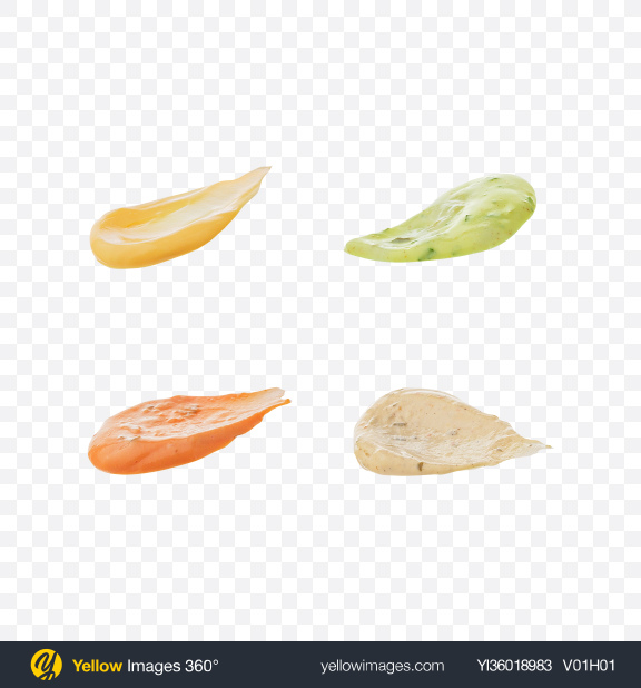 Download Sauces Drops Set Transparent PNG on YELLOW Images