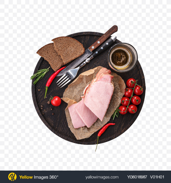 Download Meat Snack Set Transparent PNG on YELLOW Images