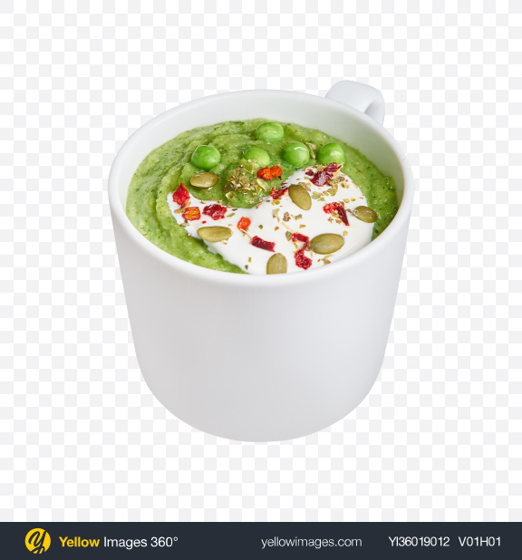 Download Green Peas Cream Soup Transparent PNG on YELLOW Images