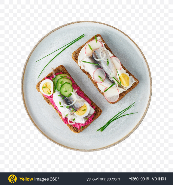 Download Anchovy Toasts Set Transparent PNG on YELLOW Images