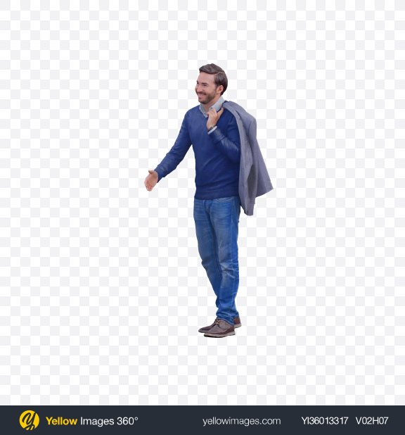 Download Man Reaching Out for Handshake Transparent PNG on YELLOW Images