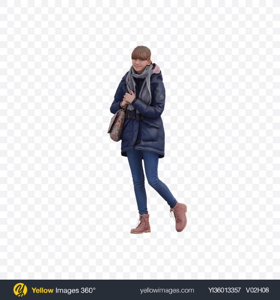 Download Girl Standing Transparent PNG on YELLOW Images