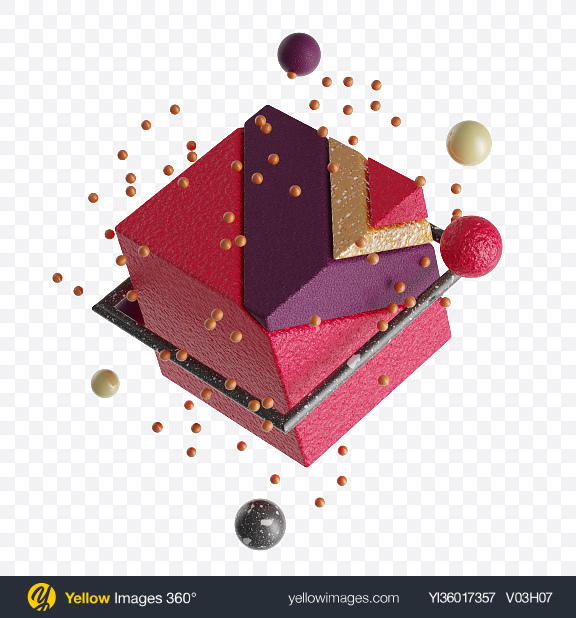 Download Abstract Geometric Set Transparent PNG on YELLOW Images