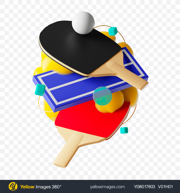 Download Abstract Ping-Pong Set Transparent PNG on YELLOW Images