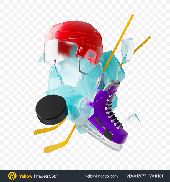 Download Abstract Ice Hockey Set Transparent PNG on YELLOW Images