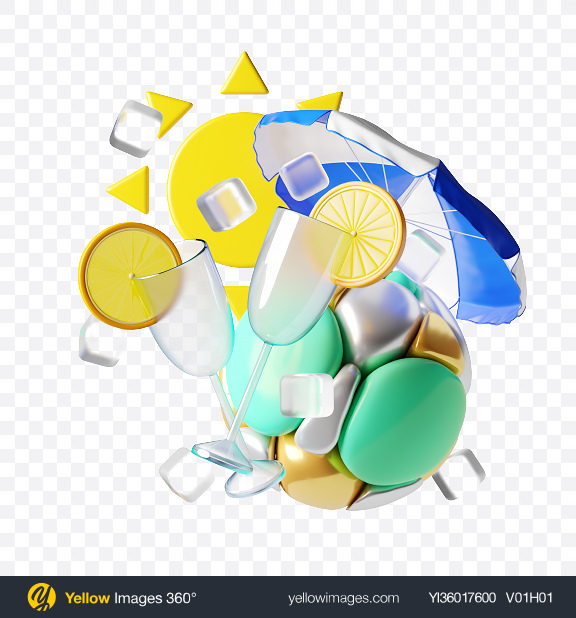 Download Abstract Summer Set Transparent PNG on YELLOW Images
