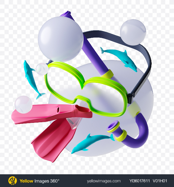 Download Abstract Diving Set Transparent PNG on YELLOW Images