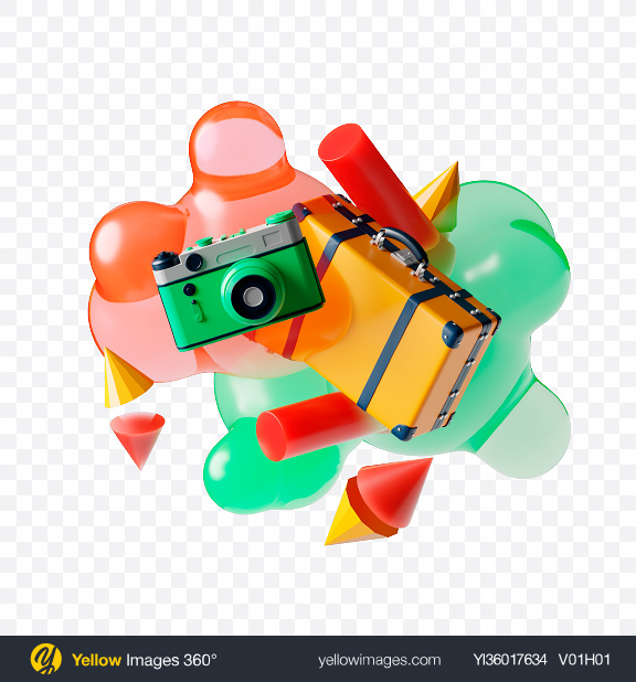 Download Abstract Travel Set Transparent PNG on YELLOW Images