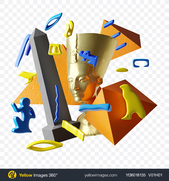 Download Ancient Abstract Set Transparent PNG on YELLOW Images