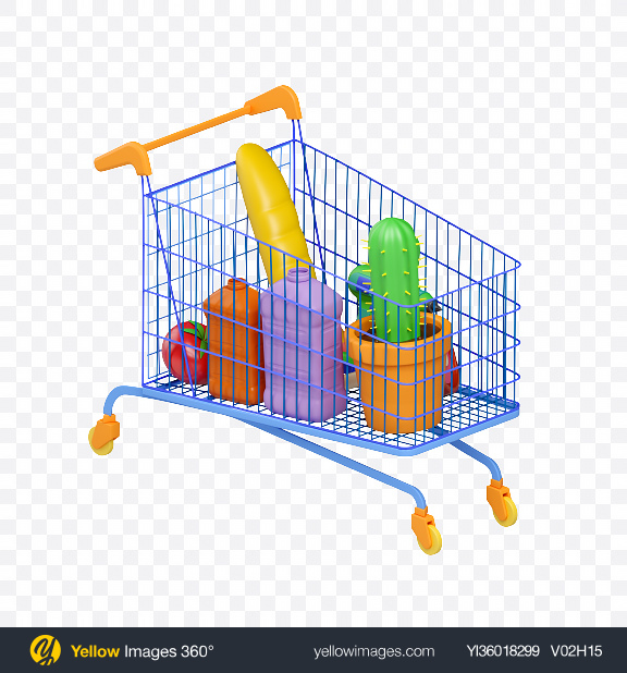 Download Shopping Cart Transparent PNG on YELLOW Images