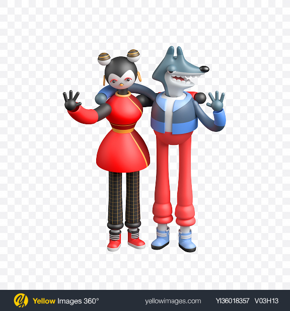 Download Stylized Characters Transparent PNG on YELLOW Images