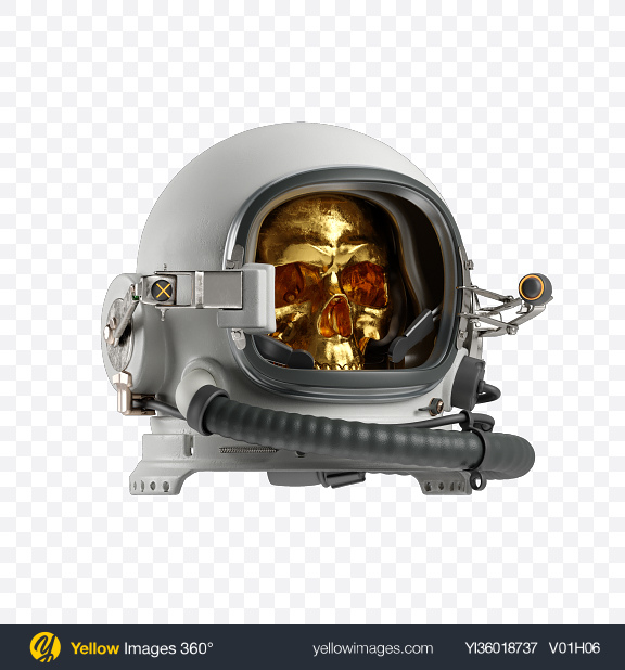 Download Skull in Space Helmet Transparent PNG on YELLOW Images